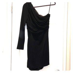 NWT Black One Sleeve Alice & Olivia Dress